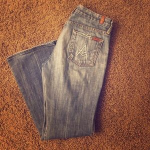 Authentic 7 for all mankind size 26 jeans
